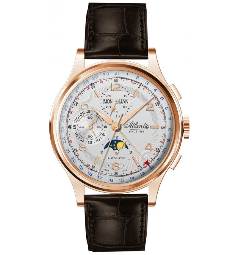 Atlantic 55851.44.25 Worldmaster Moonphase Universal Automatic Chronograph