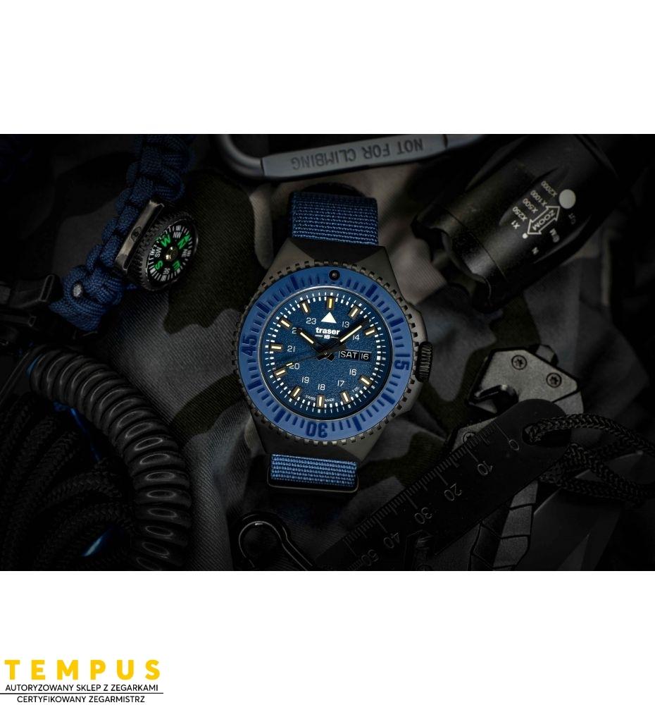 Zegarek Męski Traser P69 Black Stealth Blue 109856 - Tempus