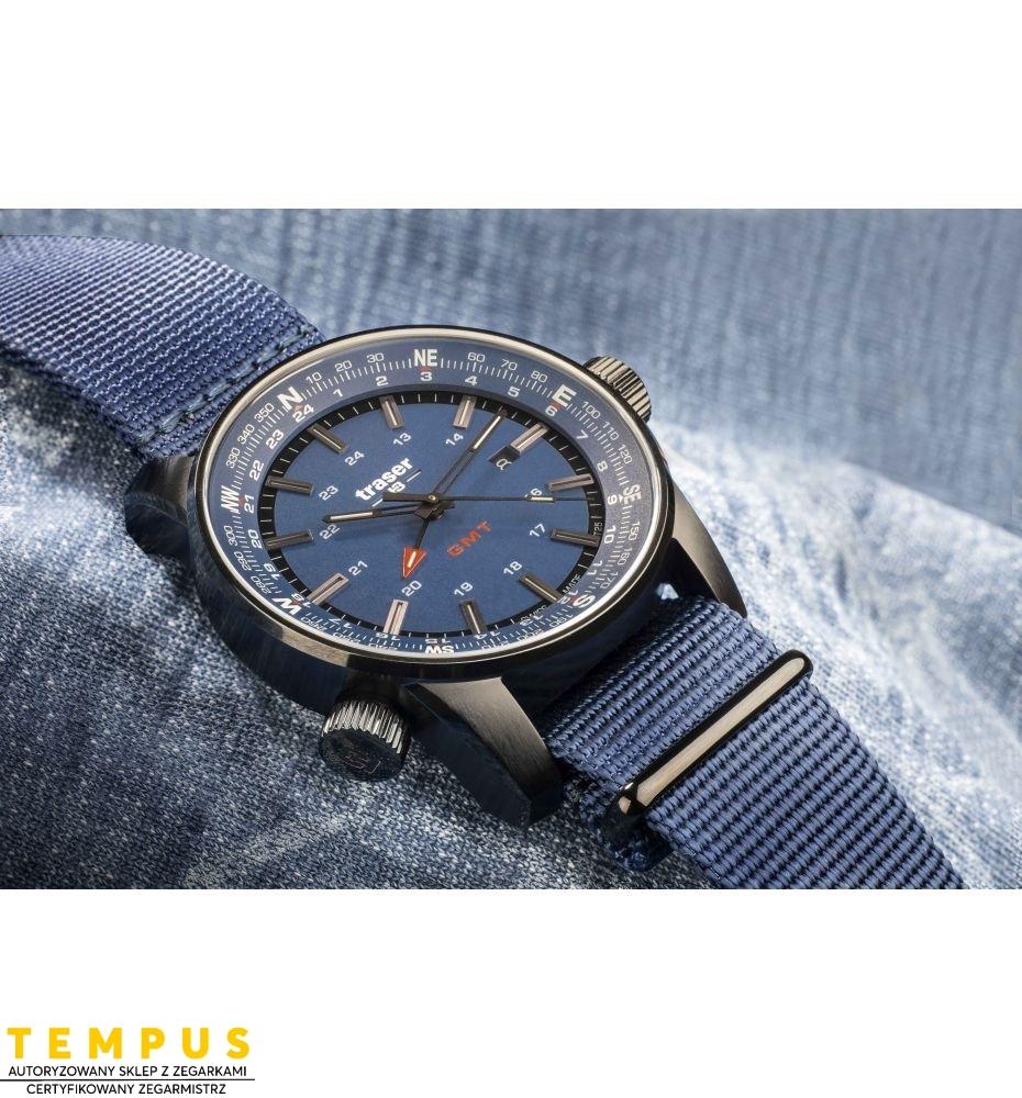 Zegarek Męski Traser P68 Pathfinder GMT Blue 109034 - Tempus