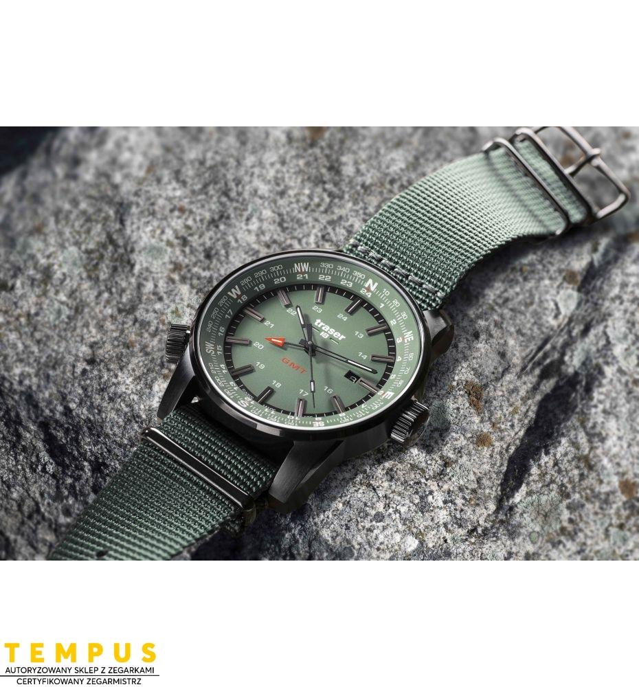 Zegarek Męski Traser P68 Pathfinder GMT Green 109035 - Tempus