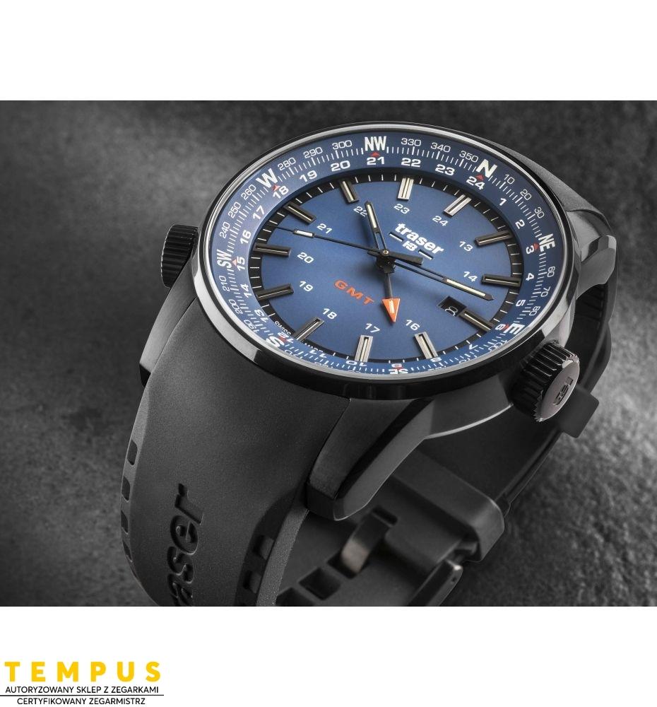 Zegarek Męski Traser P68 Pathfinder GMT Blue 109743 - Tempus