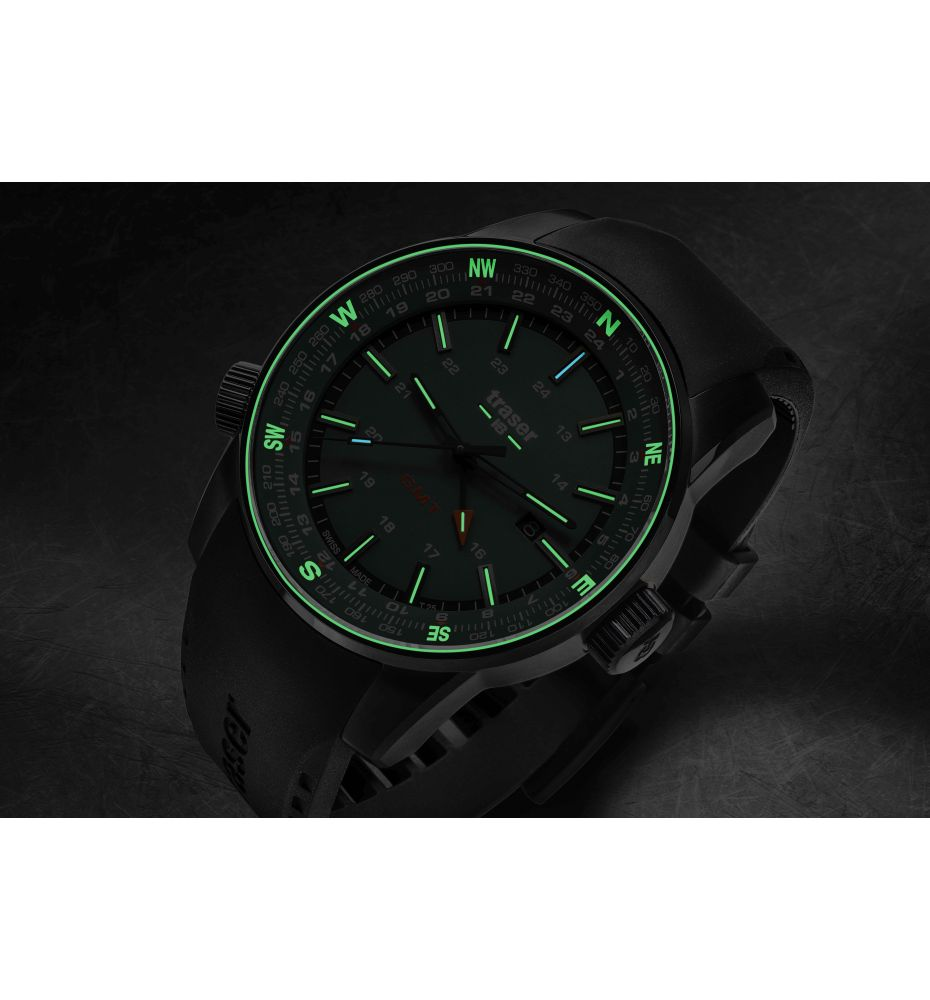 Zegarek Męski Traser P68 Pathfinder GMT Green 109744 - Tempus