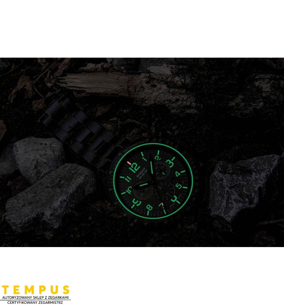 Zegarek Męski Traser P67 Officer Pro Chronograph Green 109464 - Tempus
